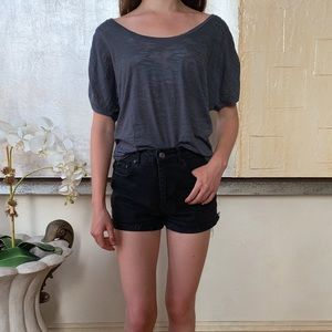 Gray Crew Neck Shirt w/ Studs by Cello Outfitters